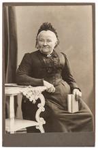 Old Portrait Of Senior Woman Ca. 1906
