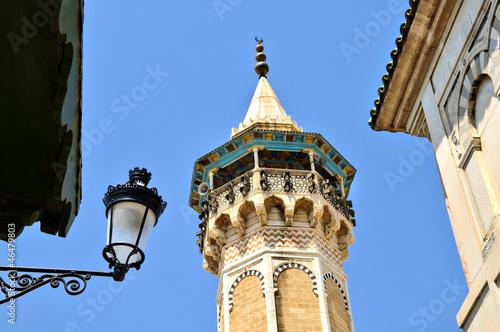 Fényképezés  Minaret médina Tunis
