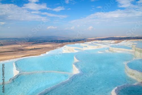 Deurstickers Turkije Ttravertine pools and terraces, Pamukkale, Turkey