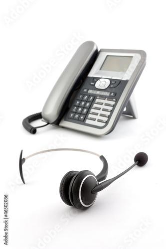 Ip phone headphone Canvas Print