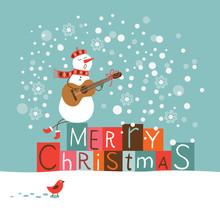 Cute Snowman Singing