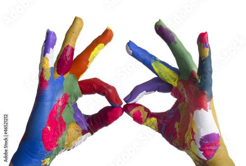 mani colorate con occhiali - 46521212