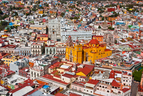 Foto op Canvas Mexico Colonial architecture at its best Guanajuato Mexico