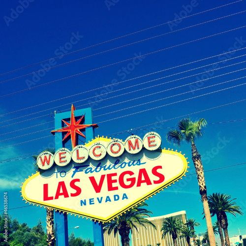 Tuinposter Las Vegas Welcome to Fabulous Las Vegas sign