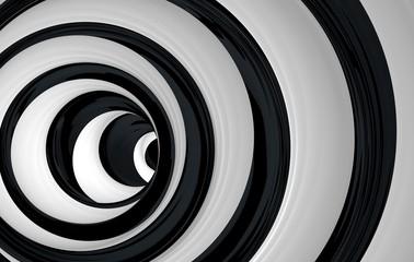 Panel Szklany Czarno-Biały helix