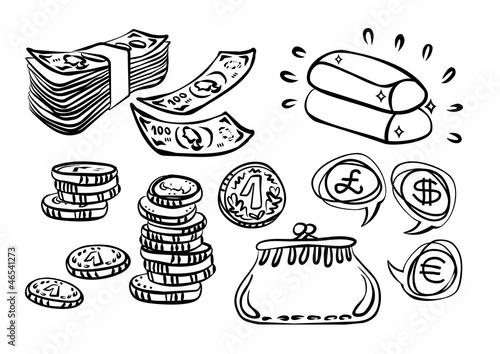 Fototapeta pieniądze złoto inwestycje ilustracja finansowa obraz