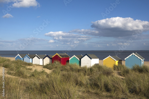 Fotografia Beach Huts, Southwold, Suffolk, England