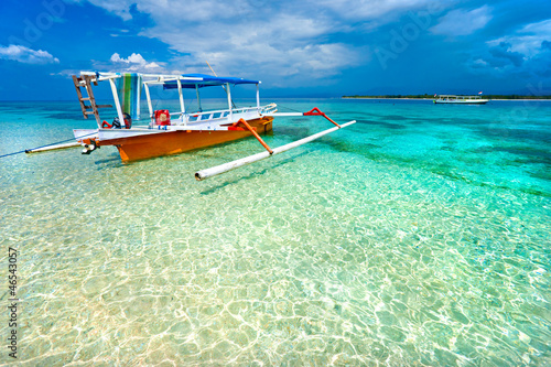 Wall Murals Indonesia Beautiful sea at Gili Meno, Indonesia.