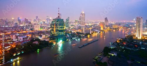 Spoed Foto op Canvas Bangkok Bangkok Skyline, Thailand..