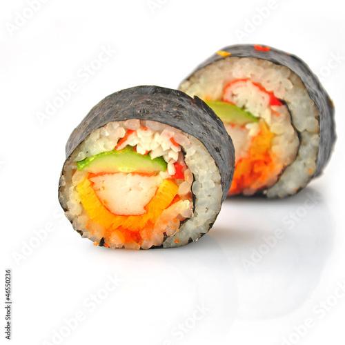 Photo sur Aluminium Sushi bar sushi roll