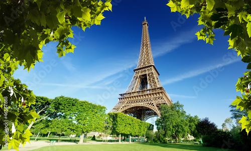 Poster Paris Eiffel tower in Paris, France