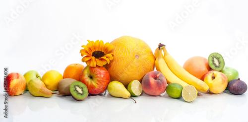 Keuken foto achterwand Vruchten Assortment of exotic fruit