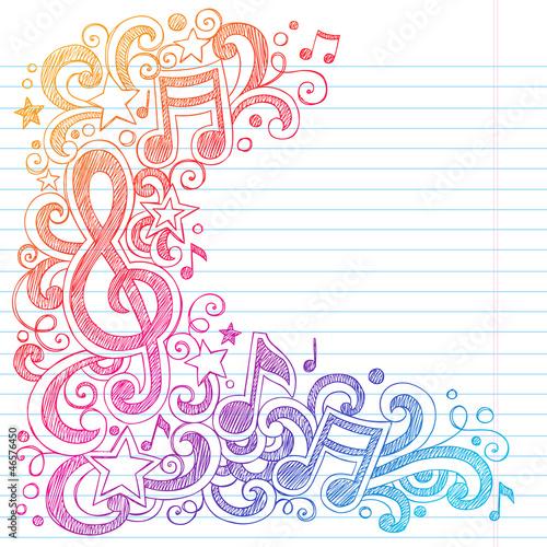 notatki-muzyczne-g-clef-sketchy-doodles-vector