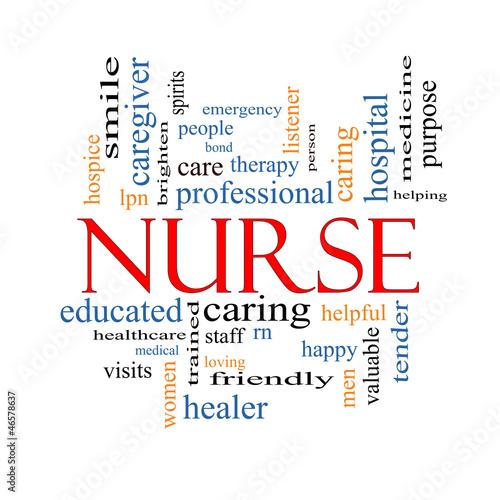 Fotografie, Obraz  Nurse Word Cloud Concept