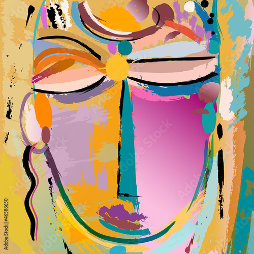 abstrakcyjne-tlo-twarz-lub-maska-z-pociagnieciami-farby-i-splash