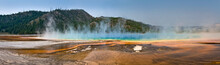 Grand Prismatic Spring, Panorm...