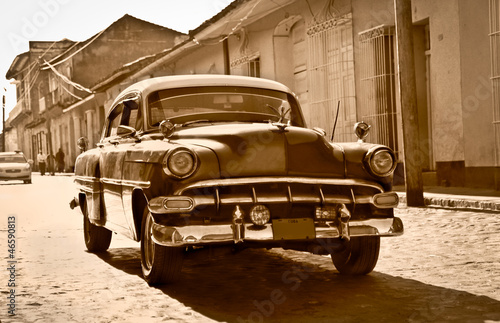 Canvas Prints Cars from Cuba Classic Chevrolet in Trinidad, Cuba