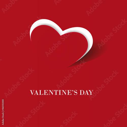 Fotografie, Obraz  Simple cute card on valentine's day