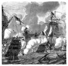 1805 : Trafalgar Battle (english Victory)