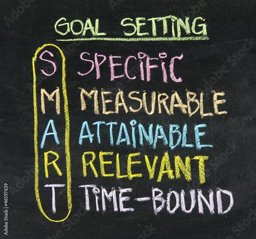 Fotografie, Obraz  smart goal setting concept