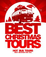 Best Christmas Tours Design Template.