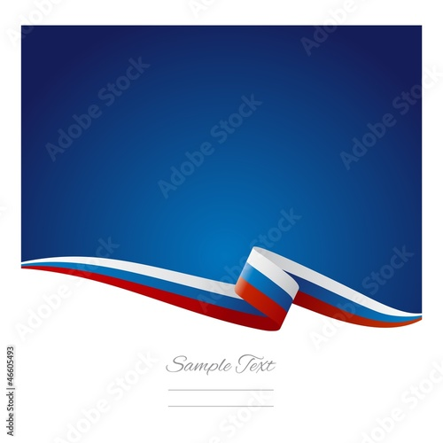 Fotografie, Obraz  Abstract color background Russian flag vector