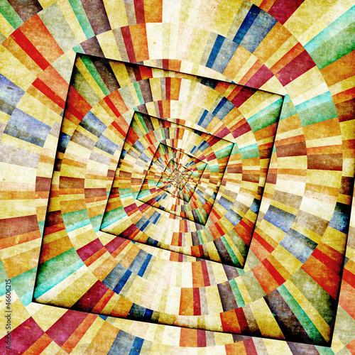 Spoed Fotobehang Psychedelic Multicolor Sunbeams grunge background