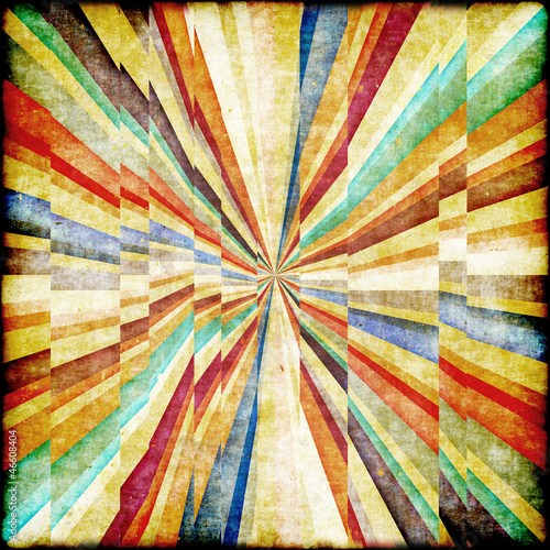 Spoed Foto op Canvas Psychedelic Multicolor Sunbeams grunge background