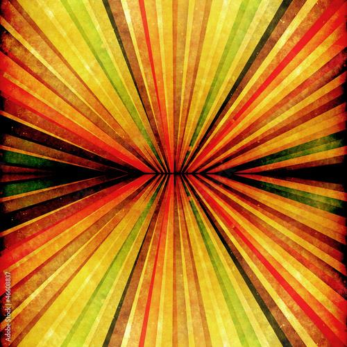 Poster Psychedelique Multicolor Sunbeams grunge background