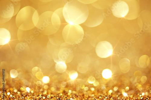 Photo  Shiny golden lights