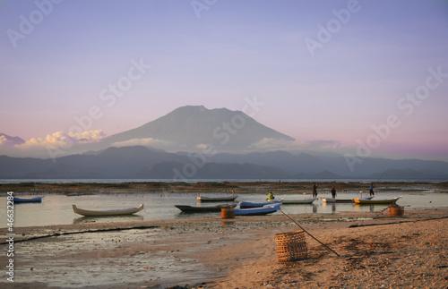 Photo Stands Indonesia seaweed farmers nusa lembongan bali indonesia