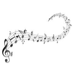 Naklejka Notenschlüssel Noten Musik
