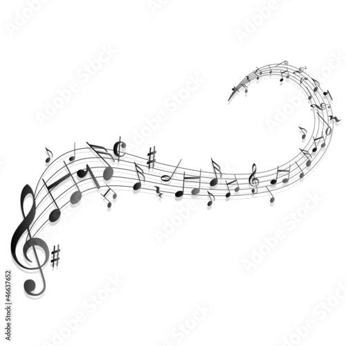 Fotografía  Notenschlüssel Noten Musik