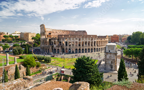 Photo  View of the Colosseum from Palatine hill, Rome