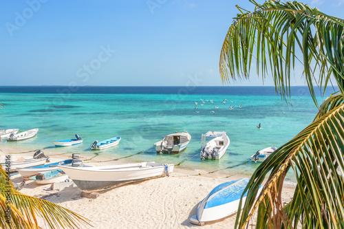 Foto auf AluDibond Südamerikanisches Land Beach of island Grand Roque from above, Venezuela