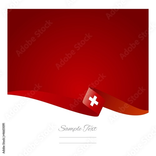Fotografie, Obraz  Swiss flag abstract color background vector