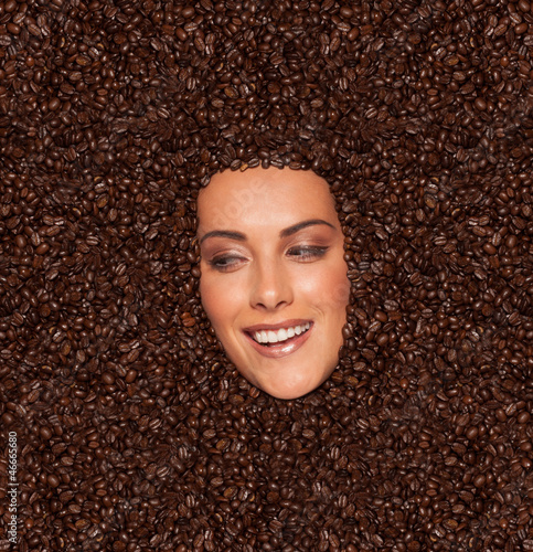 Photo Stands Coffee beans Smile if you like coffee