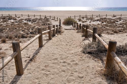 fototapeta na szkło Plaża San Miguel, w pobliżu przylądka Gata, Andaluzja (Hiszpania)