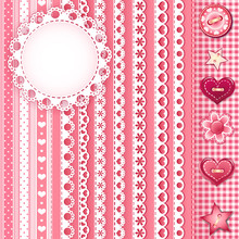 Collection Design Elements For Scrapbook.