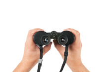 Holding Porro-prism Binoculars
