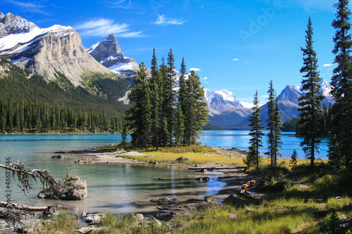 Photo sur Toile Canada Spirit Island auf dem Maligne Lake