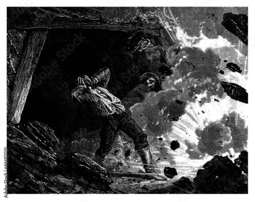 Mine Explosion - Firedamp - Grisou - Grubengas