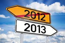Wegweiser Mit 2012 Und 2013