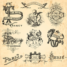 éléments Décoratifs Vintage