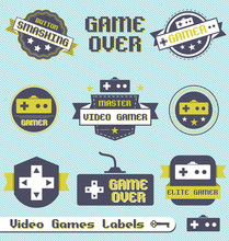 Vector Set: Vintage Video Game...