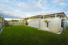 Backyard With Water Tank
