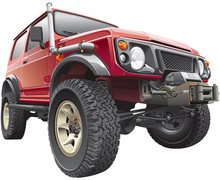 Red Rally Jeep