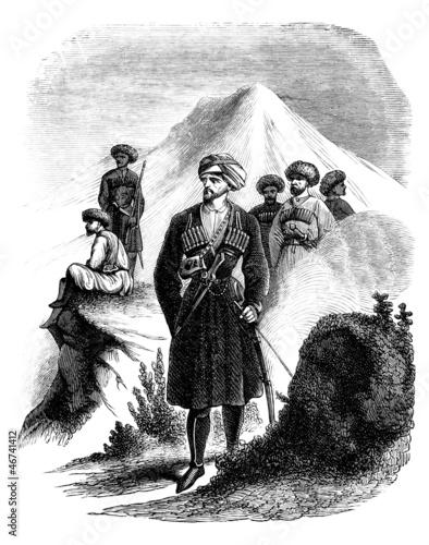 Foto  Traditional Russian Caucasian Chief