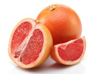Slice Grapefruit and Half Grapefruit