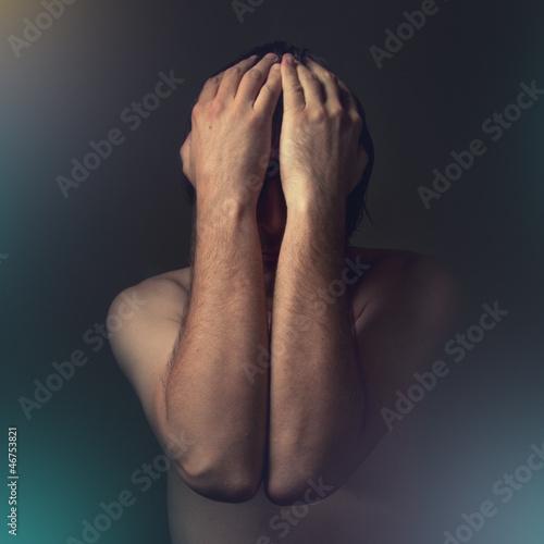 Photo  Depressive man